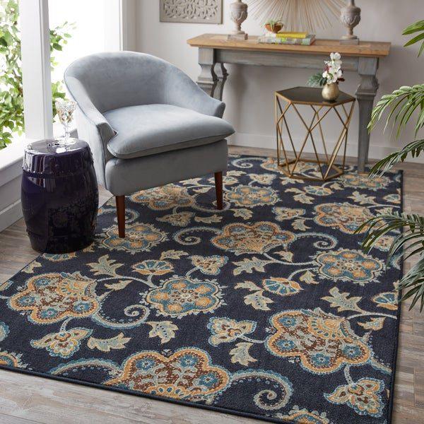 ست کردن فرش سورمه ای با مبل