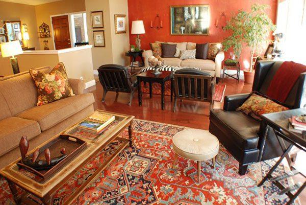 بهترین رنگ فرش برای اتاق پذیرایی