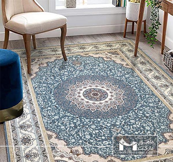 ست کردن فرش فیروزه ای با مبل